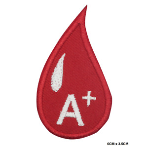 Blood Group Embroidered Iron On /Sew On Patch Badge For Clothes Badge Bags etc