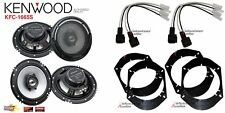 2 Pair Kenwood KFC-1665S 6.5 Speakers + Front / Rear Adapters + Harness