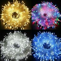 100-500 LED String Fairy Light US Plug In Christmas Tree Outdoor Garden Party
