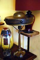Lampe Tisch- Jugendstil Art & Craft Bronze & Cabochons