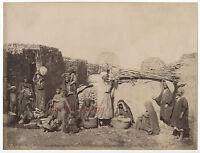 Sebah Nativi Del Said Date Disco Egitto Orientalismo Vintage Albumina, Ca 1870