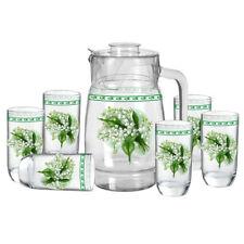Geschenkset Maiglöckchen Karaffe 6 Gläser Glas