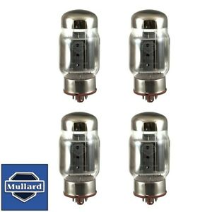 New Plate Current Matched Quad 4x Mullard Reissue KT88 / 6550 Vacuum Tubes