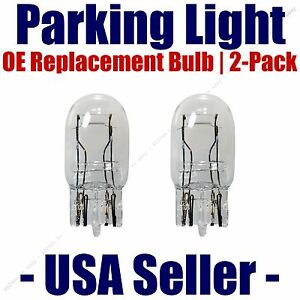 Parking Light Bulb 2-pack OE Replacement Fits Listed Toyota Vehicles - 7443