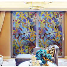 1 Roll Static Cling Frosted Stained Window Film Flower Glass Sticker Privacy