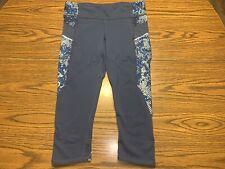 Athleta Revolve Stride Capri Pant Size Medium Navy Blue S/138194-01