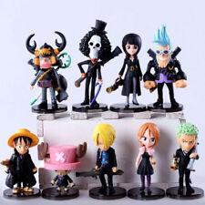 One Piece 9pcs/set anime strong world monkey d luffy chopper figures doll