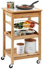 Kesper Küchenwagen aus Bambus 49 x 81 x 38 mit Fliesen-Arbeitsplatte 25776