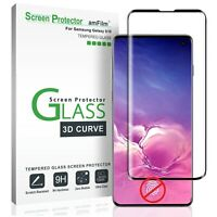 Samsung Galaxy S10 amFilm Premium Real Tempered Glass Screen Protector (Black)