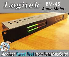 Logitek BV-4S Vintage Rack Mount Audio Meter with Power Supply - Works Great!