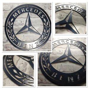 *Premium* Mercedes Benz Car Logo Metal Sign Hand Finished Man Cave Wall Art car