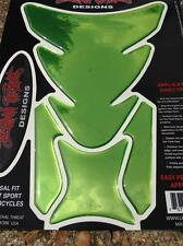 Lethal THREAT Moto Tanque Pad Protector De Cromo Verde LT70153