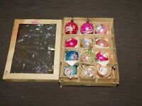 VINTAGE HOLIDAY 12 OLD CHRISTMAS TREE ORNAMENTS
