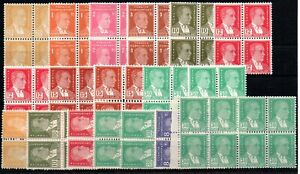 TURKEY , 1953 , 1964 , DEFINITIVES in BLOCKS of four , BOTH PAPERS ! , MNH