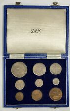 South Africa 1948 9 Coin Proof Set in Original Box 1,120 minted Km# Ps20