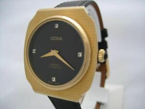 NOS NEW SWISS MADE MECHANICAL HAND WINDING GOLD PLATED MEN'S DOXA WATCH 1960'S