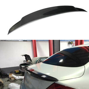Fit For Infiniti G37 Sedan 2009-13 Rear Trunk Spoiler Boot Wing Lip Carbon Fiber