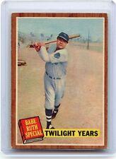 "1962 TOPPS BASEBALL #141 BABE RUTH SPECIAL ""TWILIGHT YEARS"", NEW YORK YANKEES"