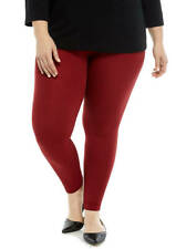 Women's Plus Size 0X/1X New Directions SPICE RED  LEGGINGS