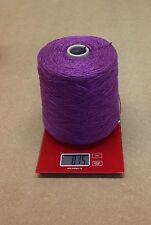 DK 100% Acrylic Slub, Bright Purple Knitting/Crochet Yarn Cone 800g-16x50g Balls