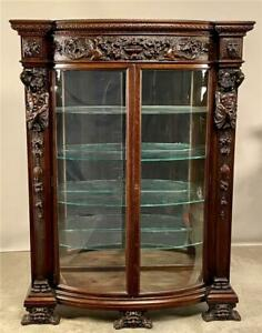 19858 Carved Oak China Cabinet- R.J. Horner