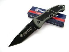 Couteau Smith&Wesson Special Ops A/O Tanto Lame Acier 4034 Manche Acier SWSPECM