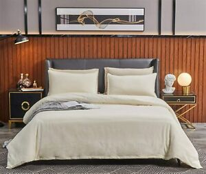 SORMAG 100% Washed Cotton Duvet Cover 3 Piece, Comforter Cover Queen Full Size,