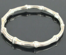 Authentic Tiffany&Co. 1996 Sterling Silver 925 Banboo Bangle Bracelet