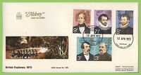 G.B. 1973 Explorers set on Abbey First Day Cover, Denbigh. Cat £40