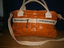 See by Chloe Daytripper Patent Leather Orange Tote and Pouch Wallet size Medium
