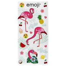 Emoji Flamants Roses Serviette bain Plage 100 coton Enfants Filles 140cm x 70cm