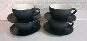 Black Cup & Saucer Set ....Bought from Heal's on Tottenham Court Road, London