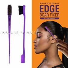 Kiss Edge 100% Boar Fixer Bristle Hair Brush Double Sided Comb Control *1PC
