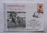 2001 DONCASTER HCP ASSERTIVE LAD WIN HORSE RACING SOUVENIR COVER