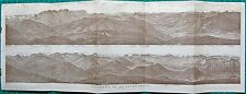 1927  VINTAGE MAP-TYROL- PANORAMA FROM THE HOHEN SALVE