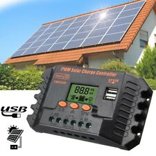 30A 12/24V LCD 2 USB Solar Power Regulator Charge Controller Battery Protection