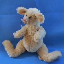 "Handcrafted Mohair Mouse Rat Rodent movable joints Elizabeth Taylor 11.5"" tall"