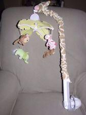 Carters Jungle Jill Collection Musical Mobile Giraffe Monkey Elephant Zebra Baby