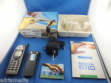 Original Nokia 6110 teléfono celular exposición dispositivo OVP d2 platino club Edition