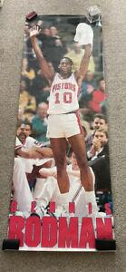 RARE DENNIS RODMAN PISTONS 1990 VINTAGE ORIGINAL DOOR SIZE NBA COSTACOS POSTER