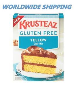 Krusteaz Gluten Free Yello Cake Mix 20 Oz WORLDWIDE SHIPPING
