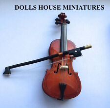 1/12 Scale Cello & Case, Doll House Miniature, Musical Instrument, Music Room