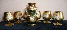 Beautiful Family Set of 7 Crystalite Bohemia Cognac Wineglass
