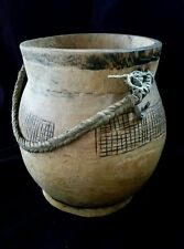 Antique Turkana Wood African Kenya Food Bowl Container
