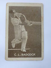 ORIGINAL 1930S CRICKET TRADING CARD / C L BADCOCK - AUSTRALIA .. GRIFFITHS