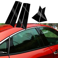Glossly Black Door Window Pillar Posts Cover Trim For Honda Civic 10th 2016-2019