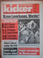 KICKER 23 - 17.3. 1988 Real Madrid-Bayern 2:0 FC Barcelona-Leverkusen 0:1 Verona