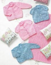 PREMATURE BABY DOLL CARDIGANS & BLANKET KNITTING PATTERN 12/20 INCH (1247)