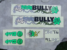 Rare Original Piston Bully Bicycle BMX Decal Set, Printed on Clear Plastic