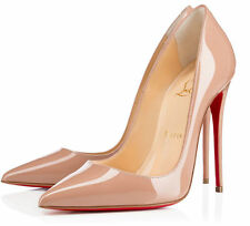 Christian Louboutin Women's 100% Leather High Heel (3-4.5 in.) Shoes